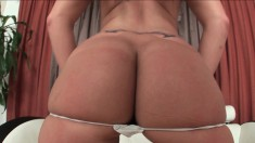 Slutty young babe with a lovely ass Nikkie Vixon sucks a dick in POV