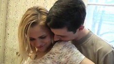 Fascinating blonde hooks up with an old friend and gets drilled hard