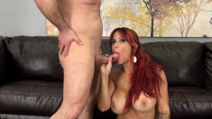 Alyssa's boobs jiggle and dance with every thrust of dick in her pussy