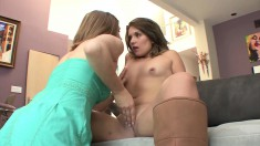 Seductive milf indulges in a wild lesbian romance with a young chick
