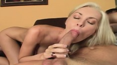 Naughty blonde MILF can't resist her neighbor's immense cock