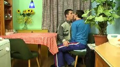 Enticing twinks working their sweet lips on each other's big sticks