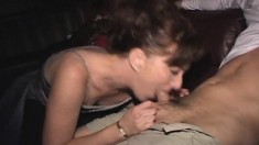 Sexy slim redhead wife with tiny boobs gets creampied and facialized