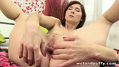 It's anal magic for Kattie Gold as she plugs her butt and vibes her vagina