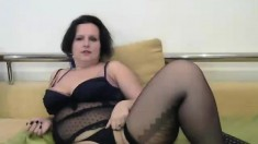 Solo Mature Brit Lady Sonia In Stockings