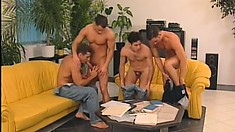 These four muscle clad studs give each other a great pounding
