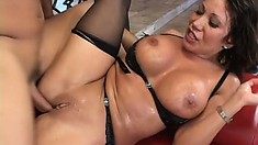 Horny MILF Ava Devine begs to get her tight pussy creampied hard