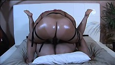 Chubby as fuck chocolate bitches make each other gush in pleasure
