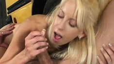 Tiny Desire gets pussy drilled after a ride home in the school bus