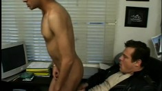 Handsome stud with a big cock gets his straight ass banged raw