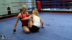 Everyone wants to watch sexy Tanya Tate and Nikita fighting hard