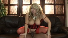 Cock starved MILF Monika enjoys a moment of brutal pussy pounding