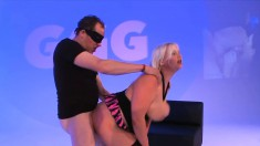 Gorgeous babes enjoy the pleasures of rough sex and the taste of semen