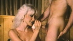 Uninhibited blonde enjoys having both her holes drilled at once