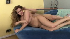 Big natural tit babe April Knight uses those to tittie fuck and gets drilled