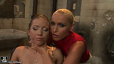 Mistress Kathia gets a new toy to play with and starts on her new slave