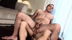 Hunky Ryan Young gets his manhood worked by sexy Fraser Jacs