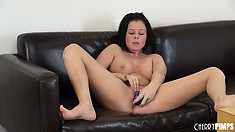 Loni's body shudders with delight thanks to her passionate approach to masturbation