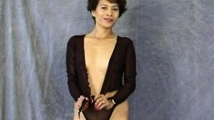 Sexy slim Asian milf Maria knows exactly how to perform for the camera