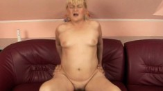 Curvy blonde can't wait to feel this thick sausage in her meat wallet