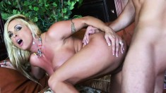 Buxom milf with a superb ass Holly Halston likes them young and horny
