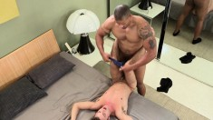Pretty white boy has a magnificent black stud banging his lovely ass