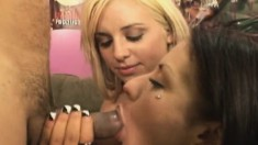 Busty blonde Jessica Moore has Miguel tonguing and fucking her peach