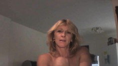 Lustful blonde mature hooker Tina takes it deep and hard from behind