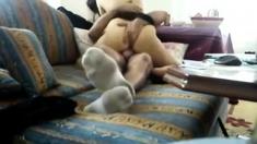 Brunette babe caught naked on beach by hidden cam