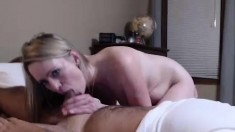 Hot amateur blowjob and facial cumshot