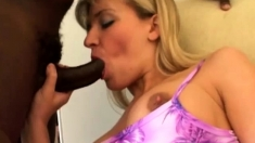 Blonde big titted amateur milf banged