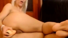 Mature Blonde Anal On Webcam