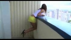 Teen Coupele Fuck On The Balcony