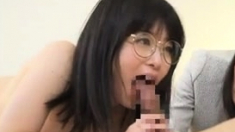 Horny Japanese MILF showers and toys herself