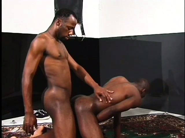 Homeboys Stroking Each Others Big Black Cocks