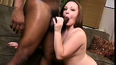 Fatty's got a brickhouse butt and nice holes and she wants to try black dick