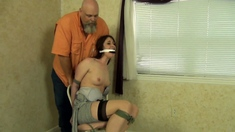Stockings mistress rams fetish guys ass with strapon