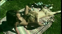 Teanna Kai gets dildoed and eaten out by a pretty blonde lass
