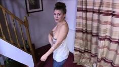 Katie suffers multiple nipple slips while dancing