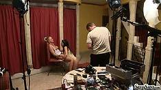 Get a voyeuristic perspective of what goes on during a shoot
