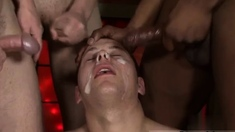 Gay Group Cumshot Isaac Left Healthy As A Whore!