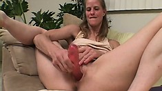 She heard her MILF roommate masturbating and went to help her