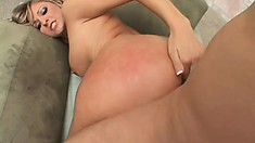 Hot blonde Carmen Kingsley bends over and gets fucked hard from behind