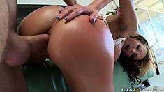 Sweet anus of frivolous female opens gladly for that pretty cock