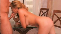 Stacked hottie with a phenomenal ass loves to get pounded doggy style