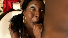 Phat ass Tiffany Stacks needs black cock and blows it before fucking it