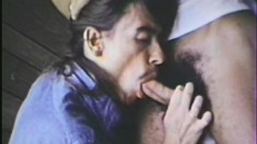 Hairy vintage lovers David And Palenti enjoy some sensual sucking