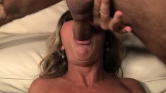 Steaming hot cougar Nikki Charm gets her fine ass in great danger