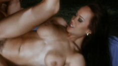 Vintage Oriental chick adores riding a huge cock deep up her snatch